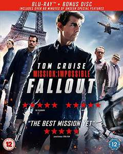 Mission Impossible Fallout Blu-ray with Dolby Atmos - £5.74 (+£2.99 Non-Prime) @ Amazon