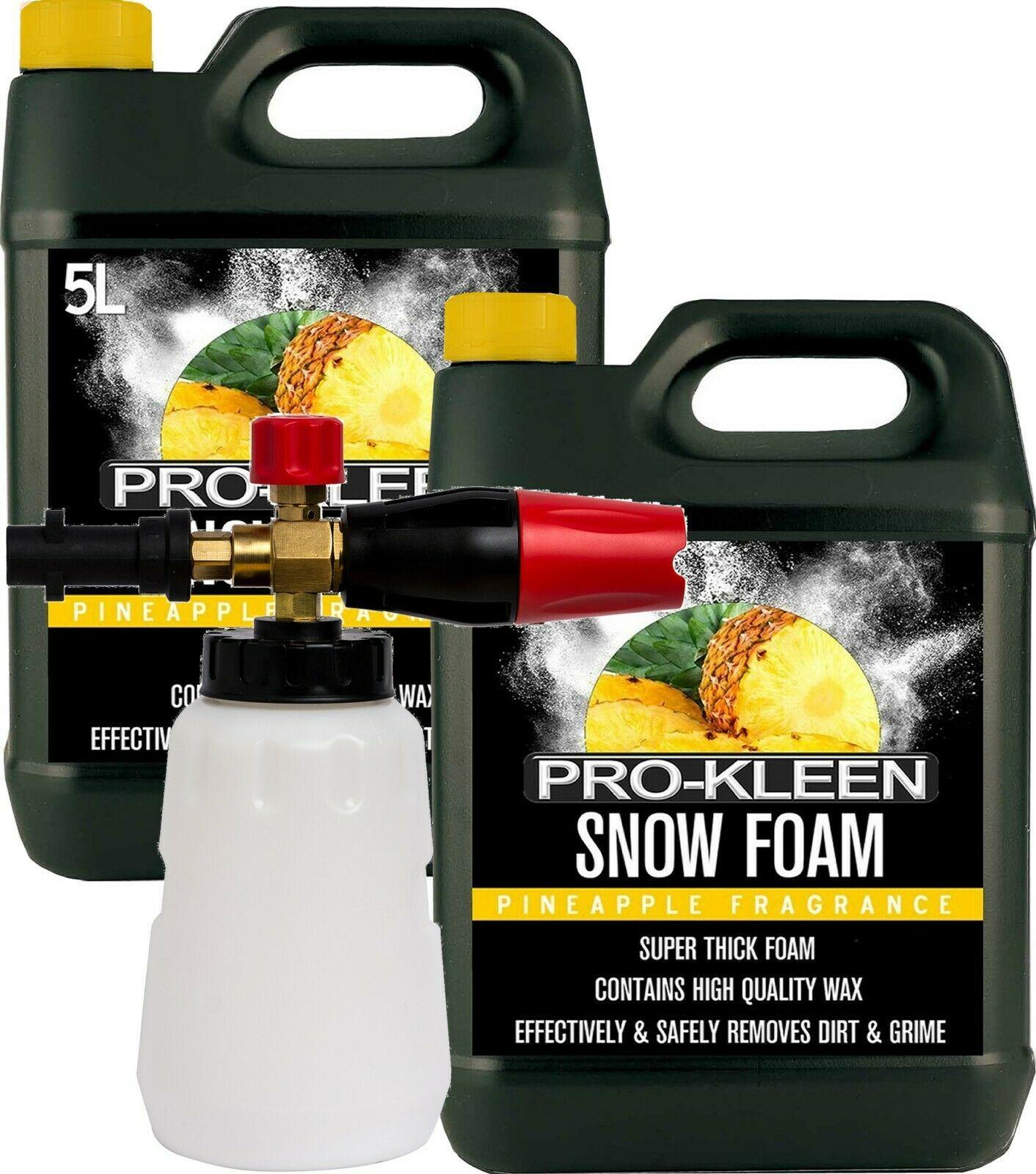 ProKleen Snow Foam Lance Cannon Karcher K Compatible Gun + 2 x 5L Snow Foam @ hsd-online / eBay
