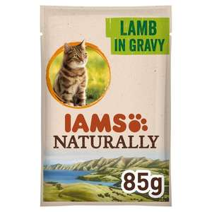 Iams Naturally With New Zealand Lamb in Gravy 85g - 8p - (Minimum Basket/Delivery Fees Apply) @ Morrisons