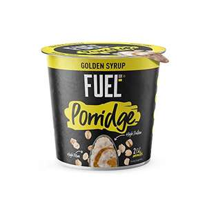 Fuel 10K Porridge Pots Golden Syrup, 8 x 70g £4.56 (+£4.49 for NP) @ Amazon