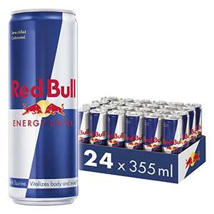 Red Bull 24 x 355ml (medium-sized) Cans for £25.54 with voucher @ Amazon