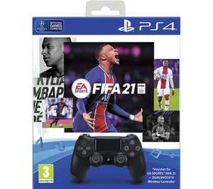 Ps4 controller pad and FIFA 21 - £54.99 + £4.99 Delivery @ GAME