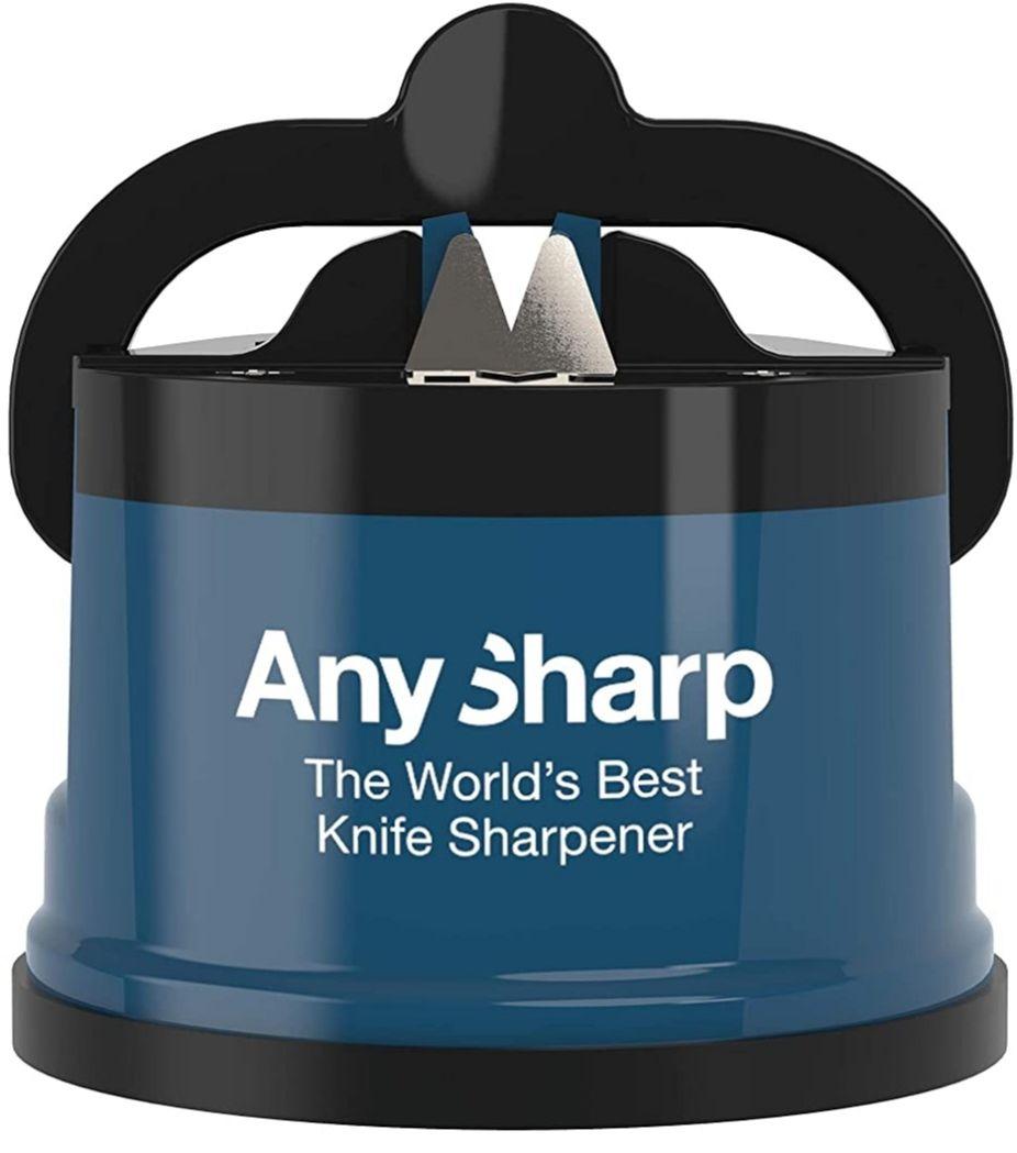 AnySharp, Knife Sharpener with PowerGrip, Blue £8.00 (non prime + £4.49) @ Amazon