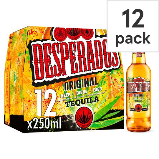 Desperados Tequila Flavoured Beer 12X250ml - £10 (Clubcard Price) @ Tesco