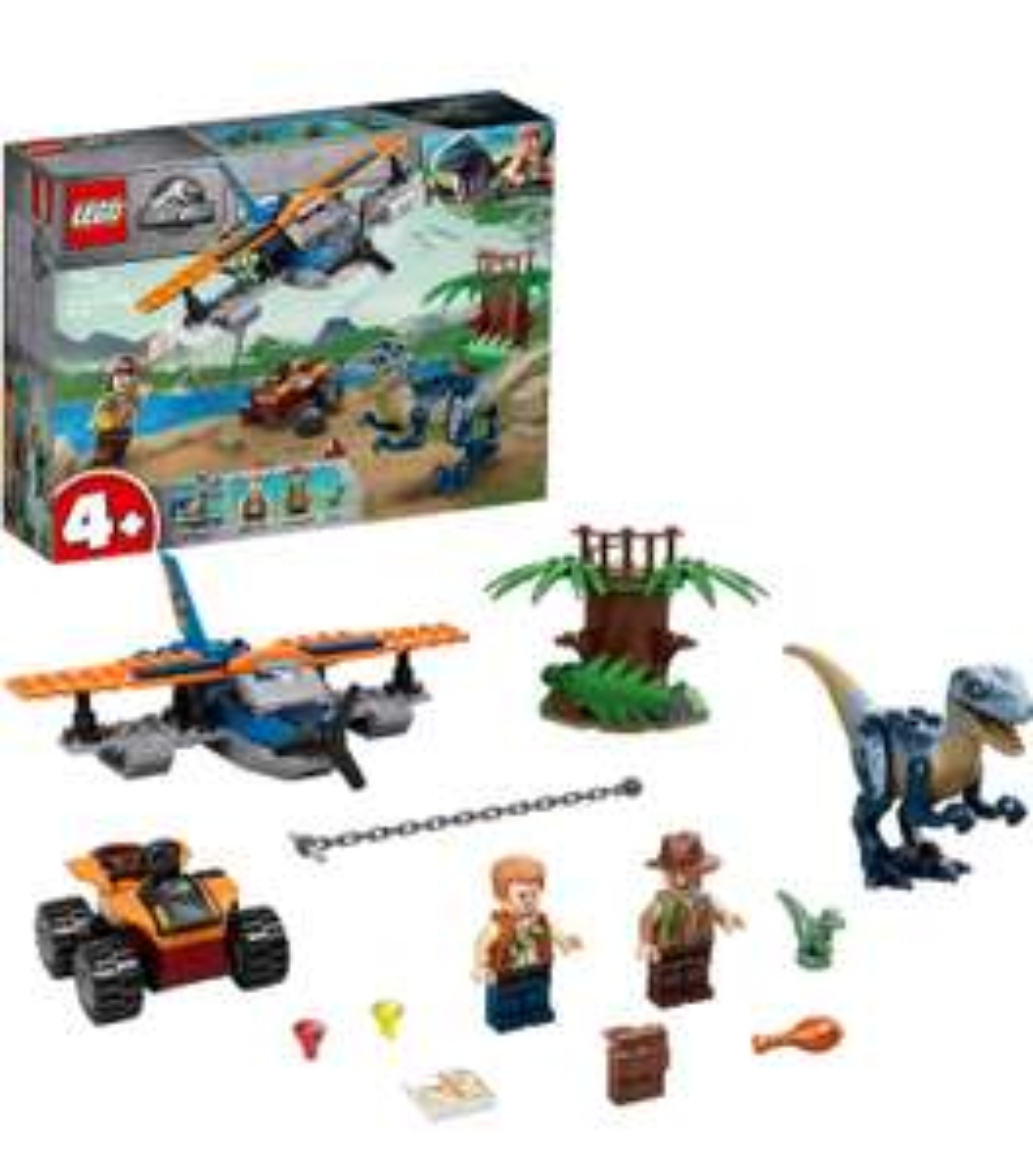 LEGO Jurassic World 4+ Velociraptor Biplane Rescue Set 75942 - £20 at Argos
