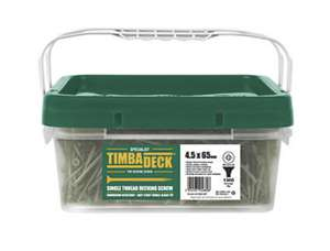 Timbadeck Double-Countersunk Carbon Steel Decking Screws 4.5 x 75mm 500 Pack. - £19.99 C&C at Screwfix (£24.99 delivered)