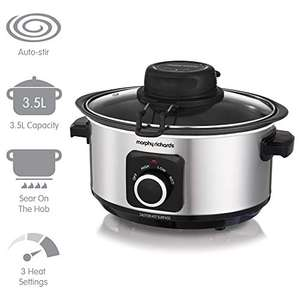 Morphy Richards 3.5l 460009 Sear, Stew and Stir Slow Cooker Integrated Auto Stirrer, Aluminium £36.97 at Amazon