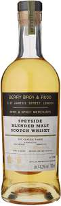 Berry Bros. & Rudd Classic Speyside Blended Malt Scotch Whisky, 70 cl, 44.2% ABV - £24.17 at Amazon