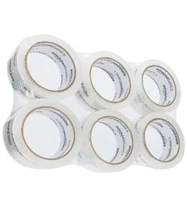Moving and Storage Packaging Tape, 4.7cm width x 49.9 meters length, Crystal Clear 6 Pack £3.59 (Prime) + £4.49 (non Prime) at Amazon