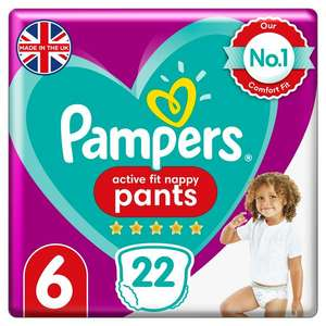 Pampers active fit nappy pants size 6 (22 pack) for £1.75 instore @ Tesco Galashiels