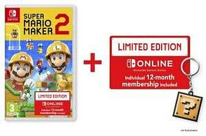 Super Mario Maker 2 Limited Edition Nintendo Switch (Includes 12 Months Individual NSO Sub.) £32.99 Delivered @ Argos/eBay