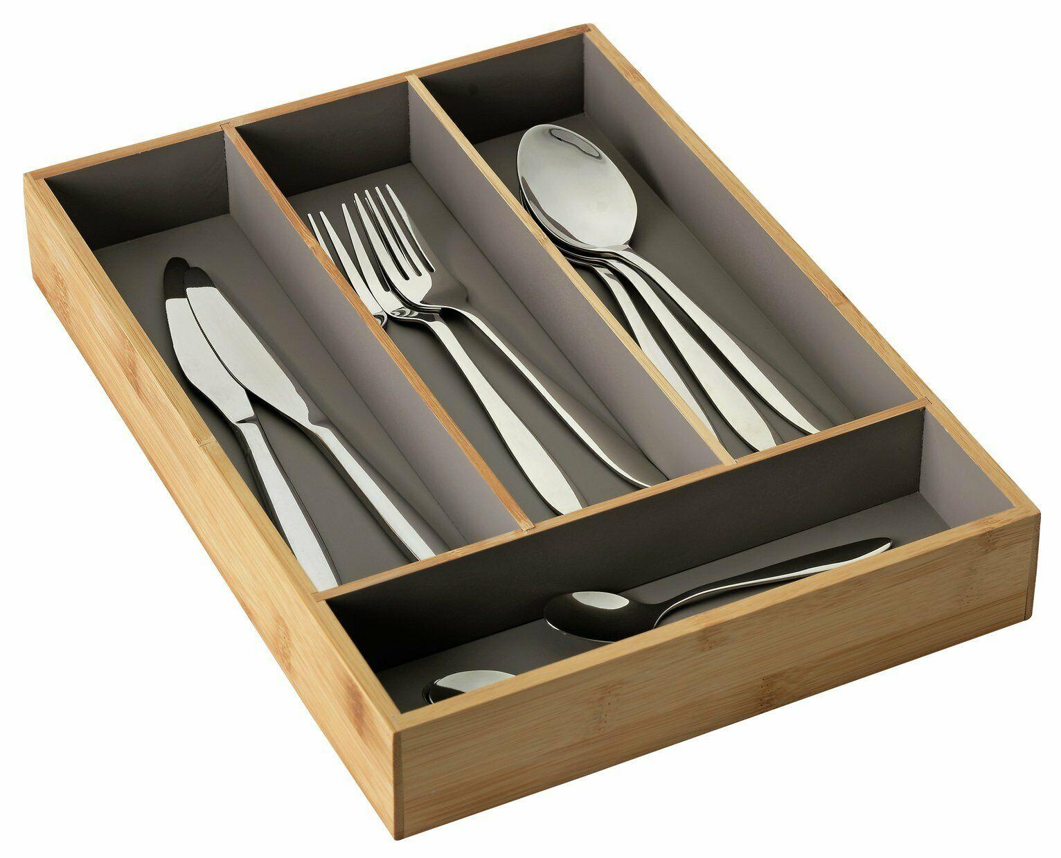 Argos Home Cutlery Tray - Bamboo and Grey - £3.50 @ Argos / ebay