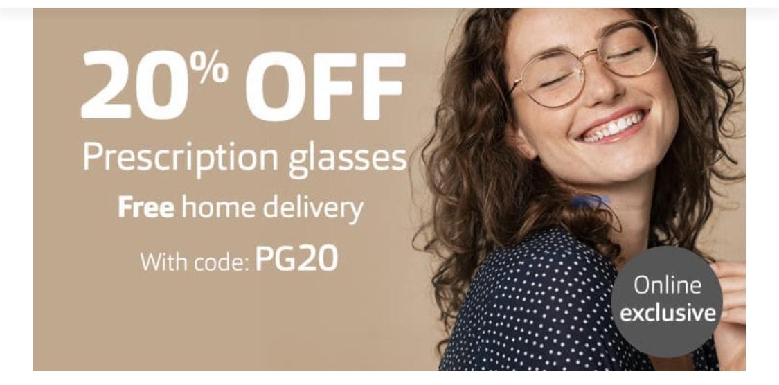 Vision express 20% off online prescription glasses