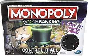 Monopoly Voice Banking Electronic Family Board Game for Ages 8 and up £14.99 (Prime) + £4.49 (non Prime) at Amazon