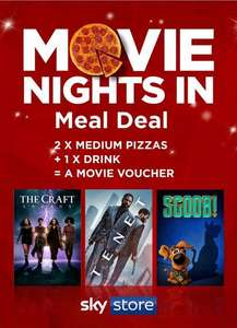 2 Medium Pizzas, 1 Drink and A Sky Store Movie Voucher all in for £5 instore @ Asda