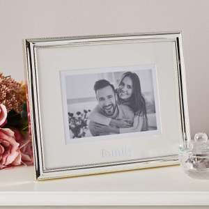 Family Silver Plated Frame H 22cm x W 27cm x D 1cm - £3.50 (With Free Click and Collect) @ Dunelm.