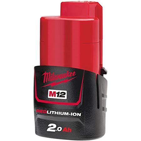 Milwaukee M12B2 2.0Ah Lithium-Ion Battery - Red £17.99 (+£4.49 Non Prime) @ Amazon