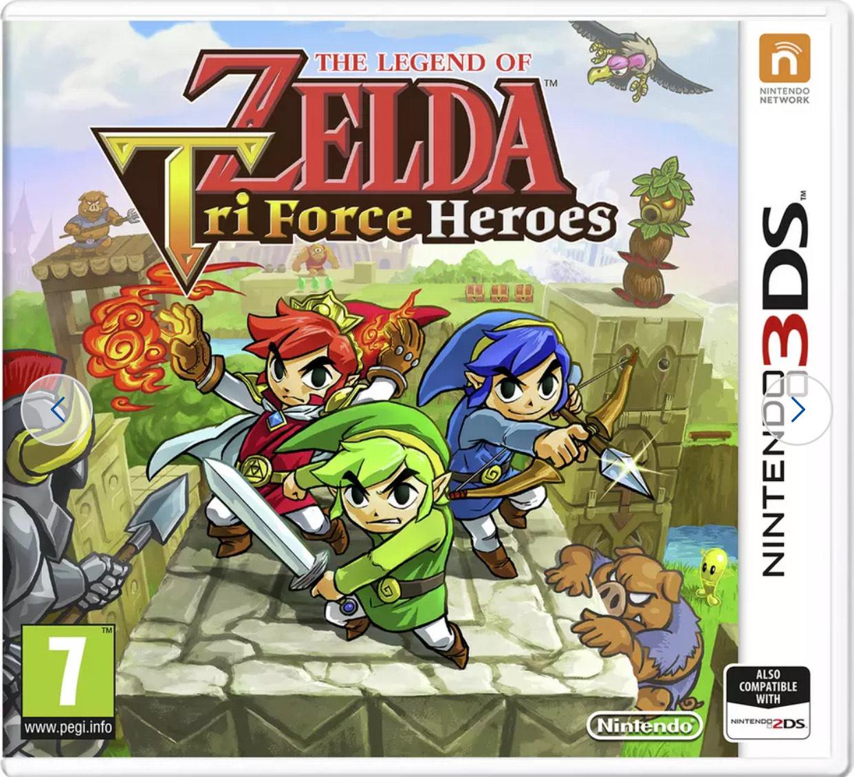 The Legend of Zelda Tri-Force Heroes Nintendo 3DS Game - £6.99 C&C @ Argos