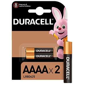 Duracell Alkaline AAAA Battery 1.5 V, Pack of 2 (LR8D425) for Digital Pens (Google, Surface, HP etc) - £2.89 Prime/£7.38 Non-Prime @ Amazon