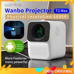 Global Version Wanbo (Xiaomi Eco-Chain Brand) T2 MAX 1080P LCD Projector with android £122.41 delivered @ AliExpress/Global Mi Homes Store