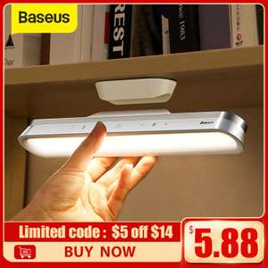 Baseus Hanging Magnetic rechargeable LED light with stepless dimming for £10.79 delivered using code @ AliExpress / Baseus Official
