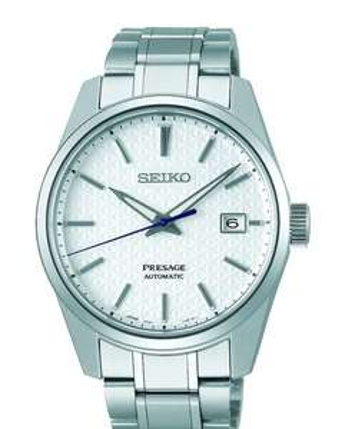 SEIKO PRESAGE Men's Stainless Steel Sharp Edged Series Shrioneri Watch SPB165J £582.50 @ Hiller Jewellers