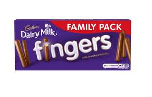 Cadbury's Dairy Milk Fingers 189g Family Pack is 99p @ Farmfoods
