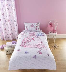 Catherine Lansfield Princess Bedding Set - Single £6.99 + free Click and Collect at Argos