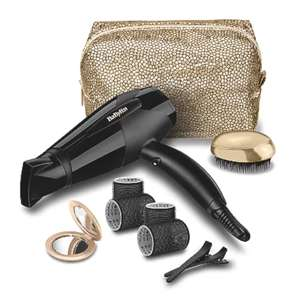 The Glamour Collection 10 Piece Hair Dryer Gift Set & 3 Year Guarantee Now £22 + free Click and Collect / £24.95 Delivered @ Asda