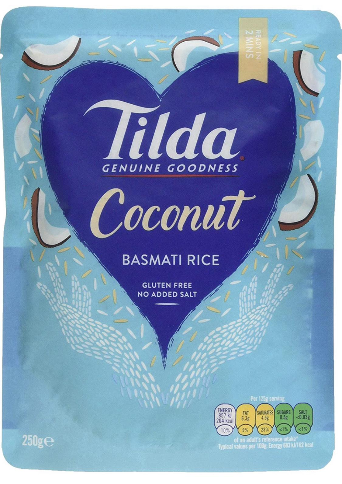 Tilda Steamed Basmati Coconut 250 g (Pack of 6) £3.92 Prime or £3.72 S&S (+£4.49 non prime) @ Amazon