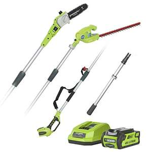Greenworks Tools Battery Tall Scale and Telescopic Hedge Trimmer 2-in-1 G40PSHK2 (Li-Ion 40 V) - £178.99 @ Amazon