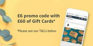 Selected accounts - Get a £6 promo code towards future Amazon orders when you purchase £60 or more of Gift Cards @ Amazon