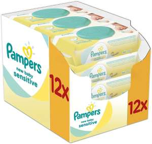 Pampers New Baby Sensitive Wipes (12x50 = 600 wipes) £8 (+£1.50 C&C or £3.50 delivery) @ Boots