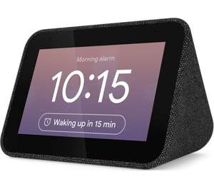 Lenovo Smart Clock with Google Assistant - Black / Silver - £34.99 @ Currys PC World