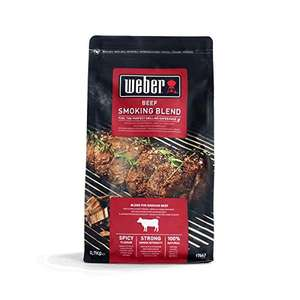 Weber (17663) Smoking Wood Chips (700g), Beef Blend £4.21 Prime - £8.70 Non Prime UK Mainland Sold by Amazon EU @ Amazon