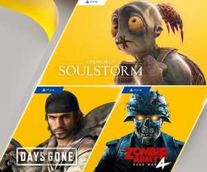 PS Plus Games (April 2021) - Days Gone (PS4), Zombie Army 4: Dead War (PS4), Oddworld: Soulstorm (PS5)