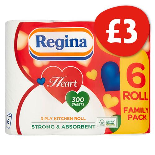 Regina Heart Kitchen Roll (6 Pack) - £3 @ Nisa