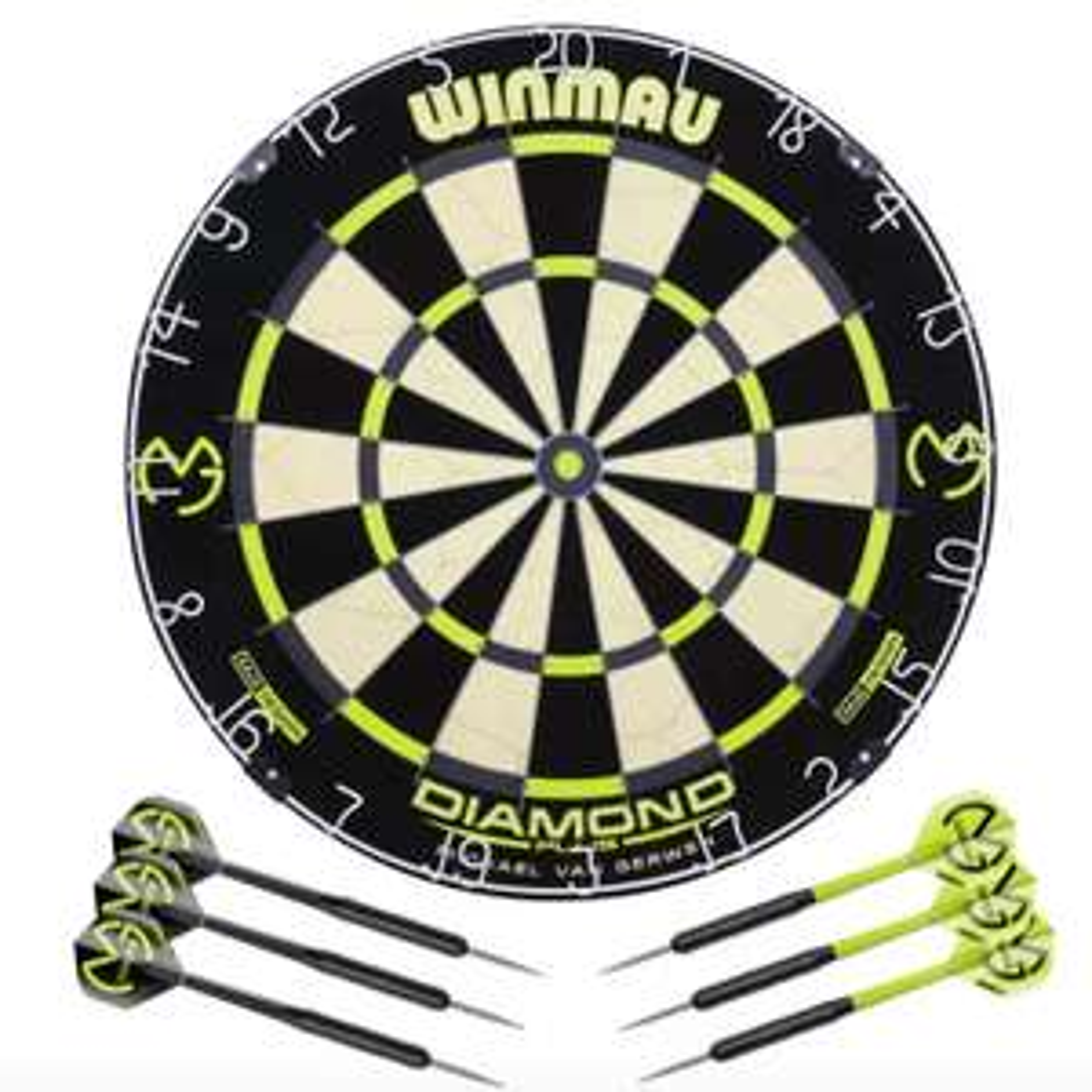 Winmau Michael van Gerwen Diamond Dartboard and Darts Set + extras £28 (free click and collect) @ Argos