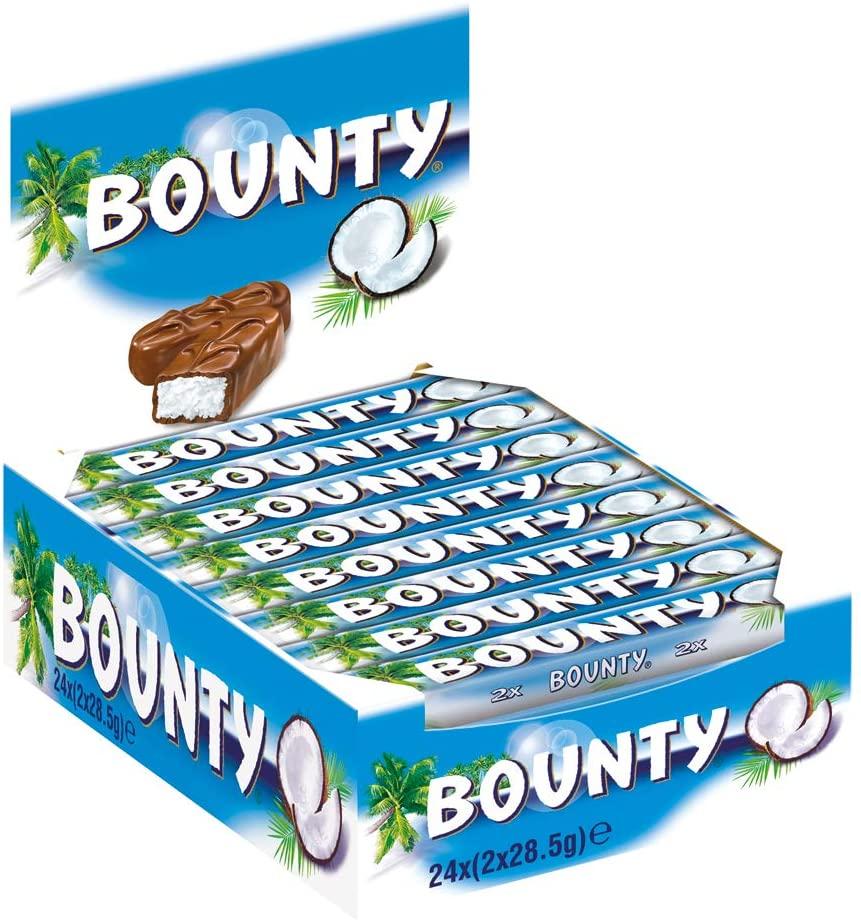 Bounty chocolate bars 24 x 57g - £6 Prime / +£4.49 non Prime @ Amazon