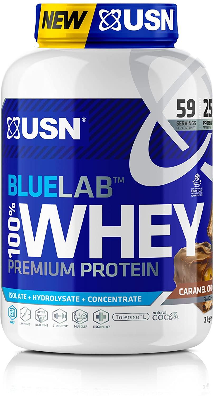 USN Premium Whey Protein Powder: Blue Lab Whey Chocolate Caramel 2 kg - £26.25 @ Amazon