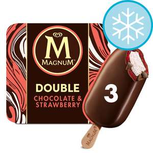 Magnum Double Chocolate & Strawberry - £1.29 instore Farmfoods, Sutton