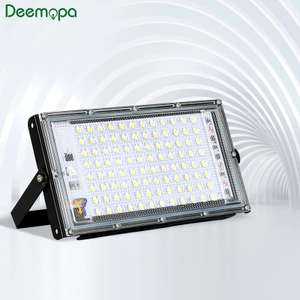 LED Flood Light 30W 50W 100W AC 220V 230V 240V 10-DAY DELIVERY!! IP65 Waterproof - £2.94 / £3.79 / £9.90 @ AliExpress DEEMOPA LED Store