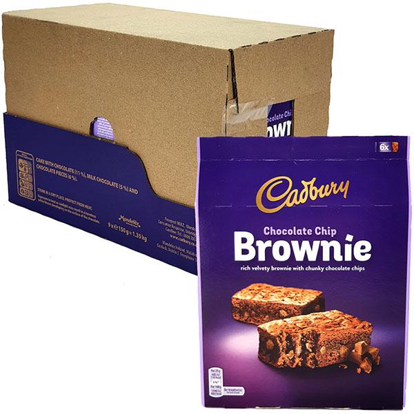 54 x Cadbury Chocolate Chip 25g Brownie Treat Bars - £8 delivered (Best Before 31/05/2021) @ Yankee Bundles
