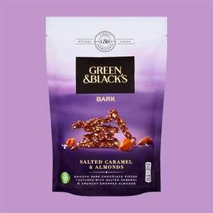 6 X Green & Black's Bark Salted Caramel & Almonds Dark Chocolate - Best Before 25/06 £7 @ Yankee Bundles