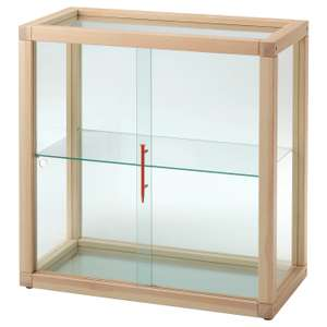 Glass-door cabinet, pine80x80 cm £60 (instore only) at Ikea
