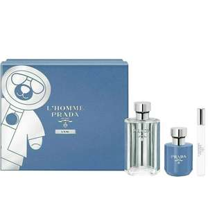 Prada L'Homme L'Eau 100ml EDT, 10ml Travel Spray & 100ml Shower Cream Gift Set £39.95 delivered (UK Mainland) using codes @ Beauty Base