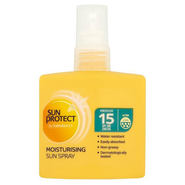 Sainsbury's Sun Protect Moisturising Sun Spray SPF 15 20p @ Sainsbury's (Banbury)