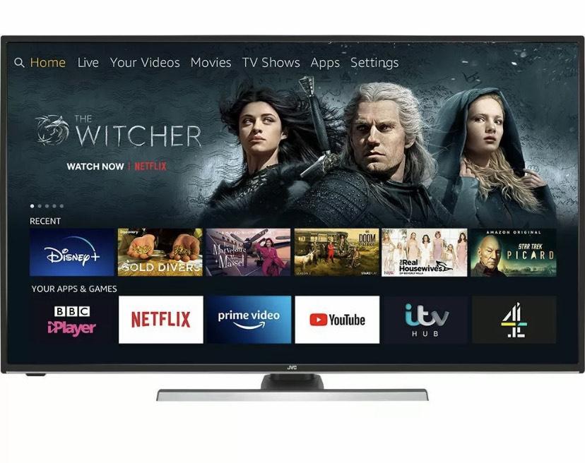"JVC LT-55CF890 Fire TV Edition 55"" Smart 4K Ultra HD HDR LED TV Amazon Alexa - £359 @ eBay / Currys PC World"