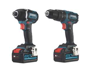 Erbauer eid18-li/ecd18-li-2 18v 4.0ah li-ion ext brushless cordless combi drill & impact driver twin pack £149.99 @ Screwfix