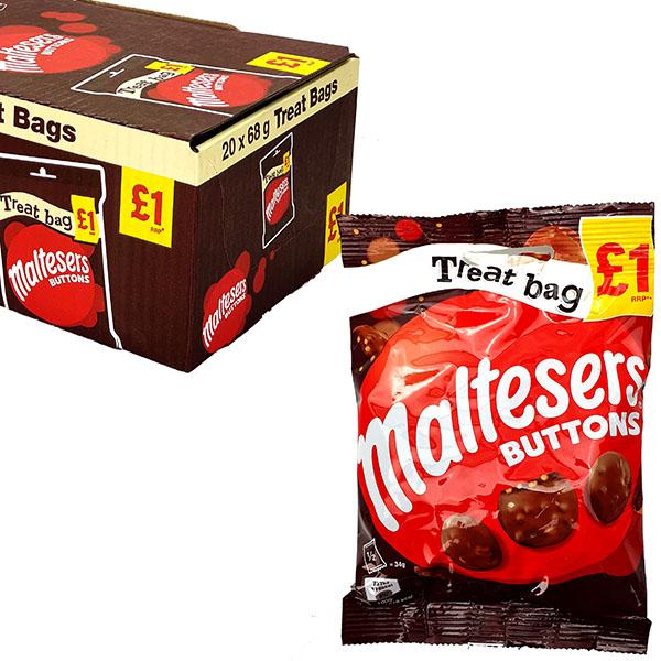 20 x Maltesers Buttons 68g Treat Bags £10 @ Yankee Bundles